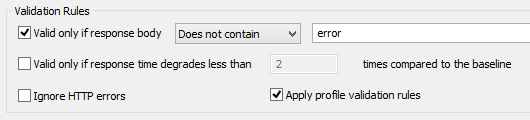 Validation option