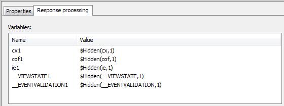 Variables for hidden controls