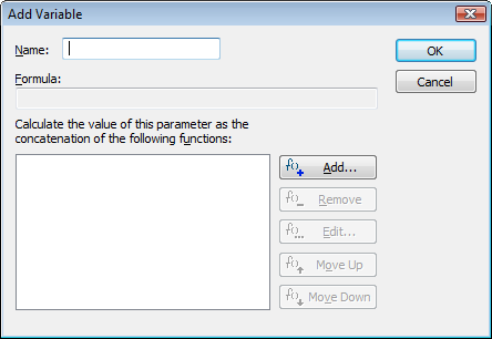 Add variable dialog
