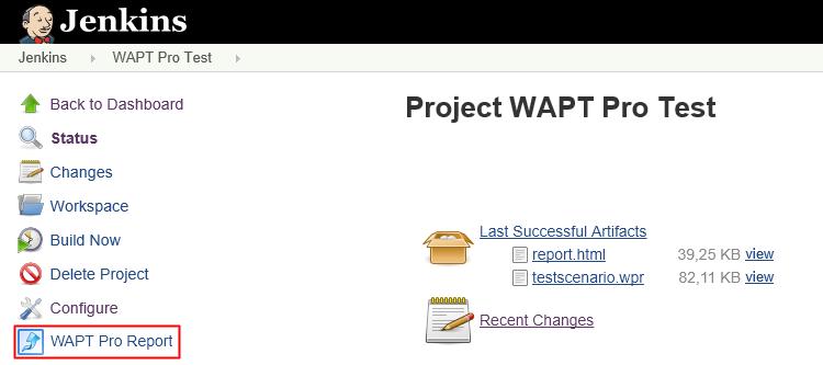 WAPT Pro Integration with Jenkins