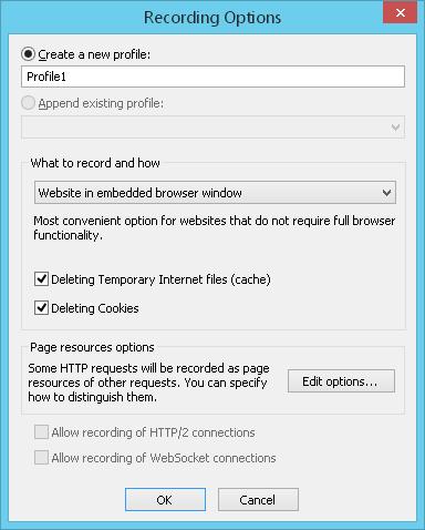 Recording a Virtual User